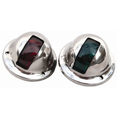 Stainless Steel Vertical Mount Side Lights - Angler's Choice Marine