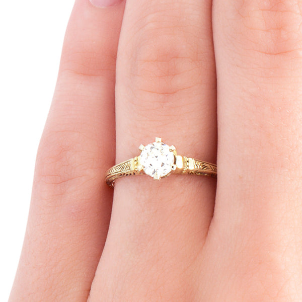 vintage solitaire engagement ring