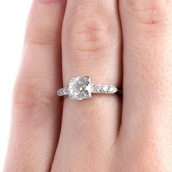 Classic Art Deco Platinum Engagement Ring | Ridgecrest from Trumpet & Horn