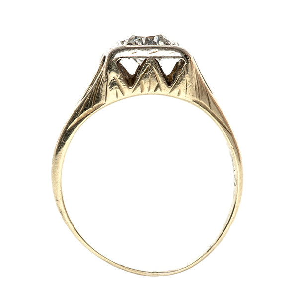 Retro Diamond Engagement Ring | Walnut Cove from Trumpet & Horn