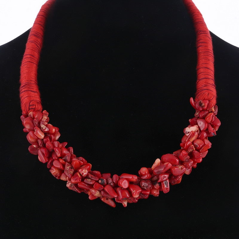 Red Natural Stone Pendant