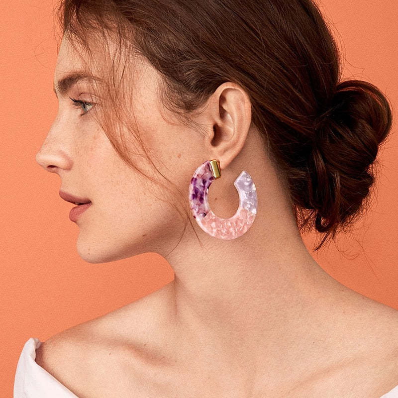 Beach Multicolor Statement Earrings