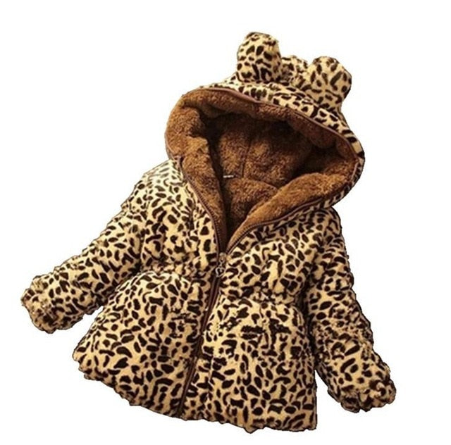 Leopard Fleece Velvet Coat