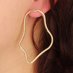 Vintage Big Hollow Punk Street Statement Earrings