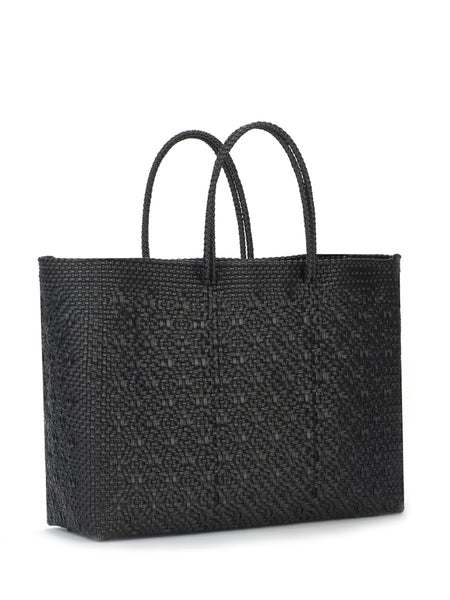 TRUSS Large Tote in Small Rhombus W/ Leather Pocket