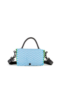 TRUSS Mini Top Handle Crossbody in Blue/Green