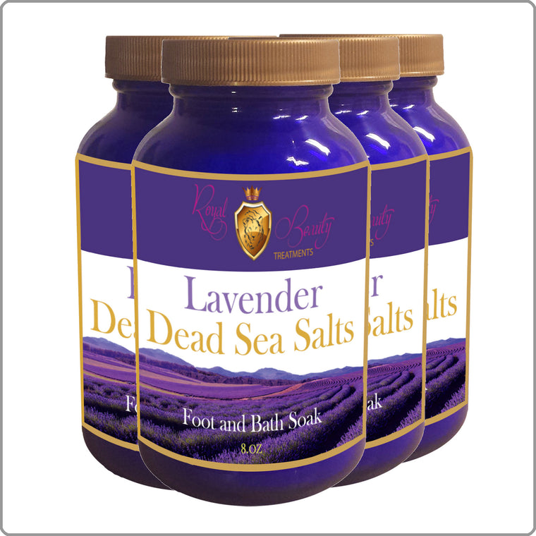 4 Pack Lavender Dead Sea Salts with FREE SHIPPING!