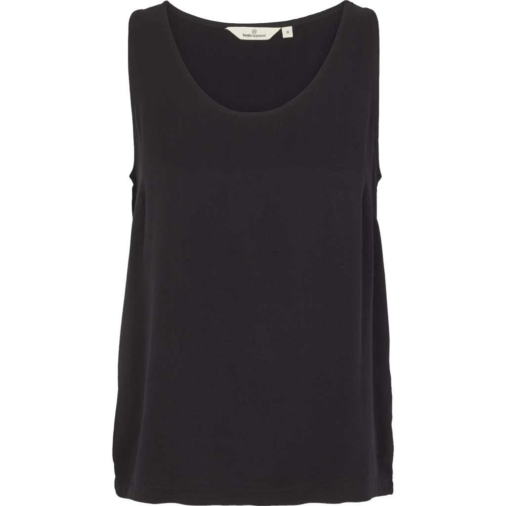 Sort ODILE tank top i viskose fra Basic Apparel