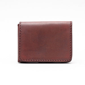 BASIC FOLD WALLET IN DARK BROWN