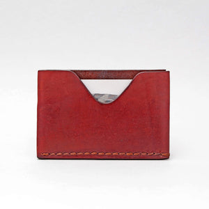 SINGLE FRONT OR BACK POCKET WALLET IN DARK BROWN