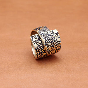 OVERLAP LIZARD PATTERN RING
