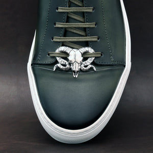 SILVER PLATED RAM SHOELACE CAP