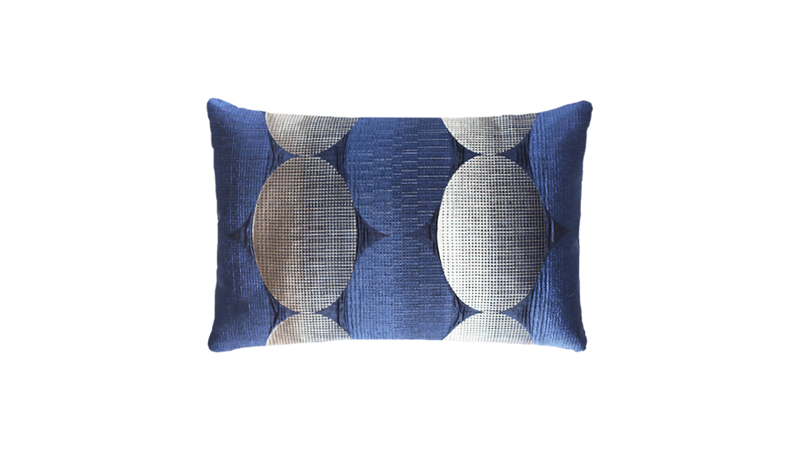 Metallic Spheres Mid-Panel Throw Pillow Cover