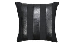 Noir Stripe Throw Pillow Cover
