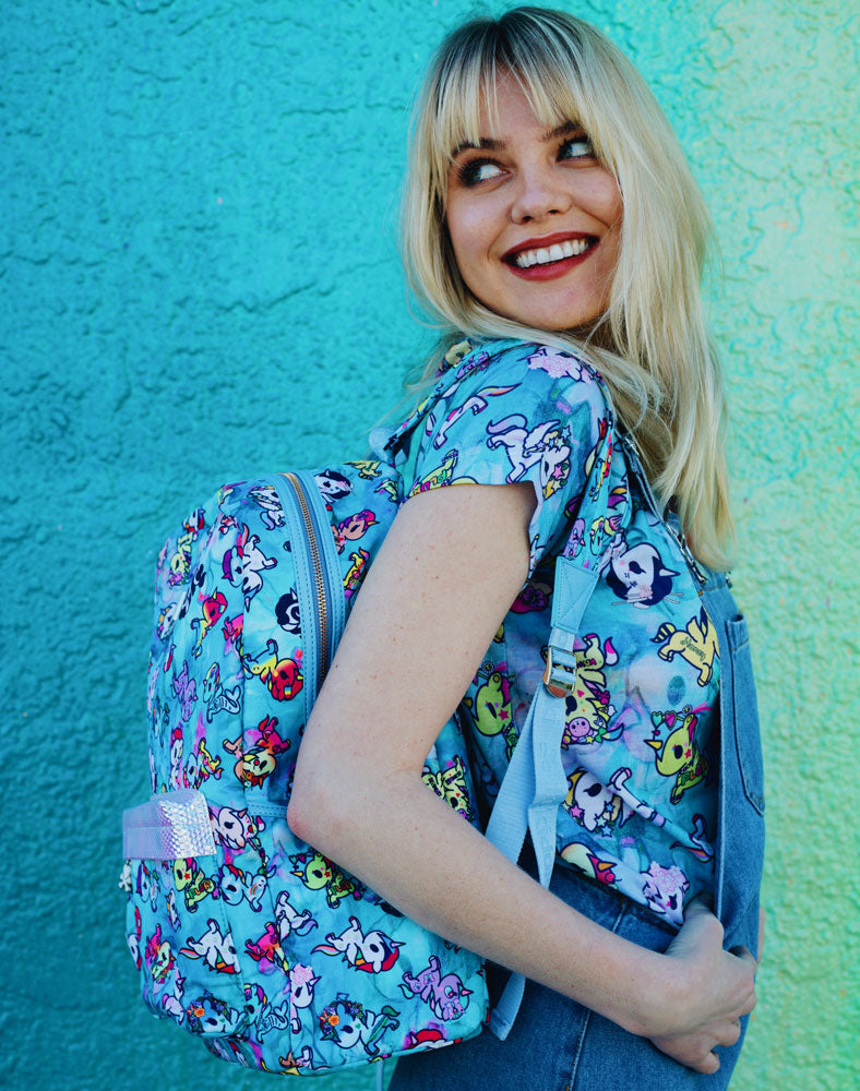 Watercolor Paradise Backpack on model