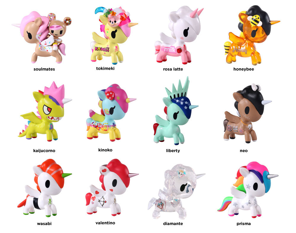 Unicorno Series 5 Blind Box figures with names