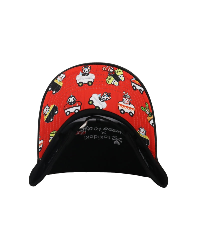 tokidoki x Hello Kitty Sushi Car Women's Adjustable Dad Hat brim underside
