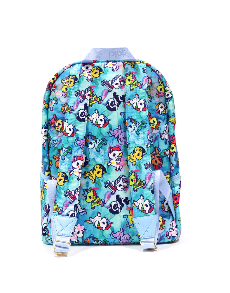Watercolor Paradise Backpack back