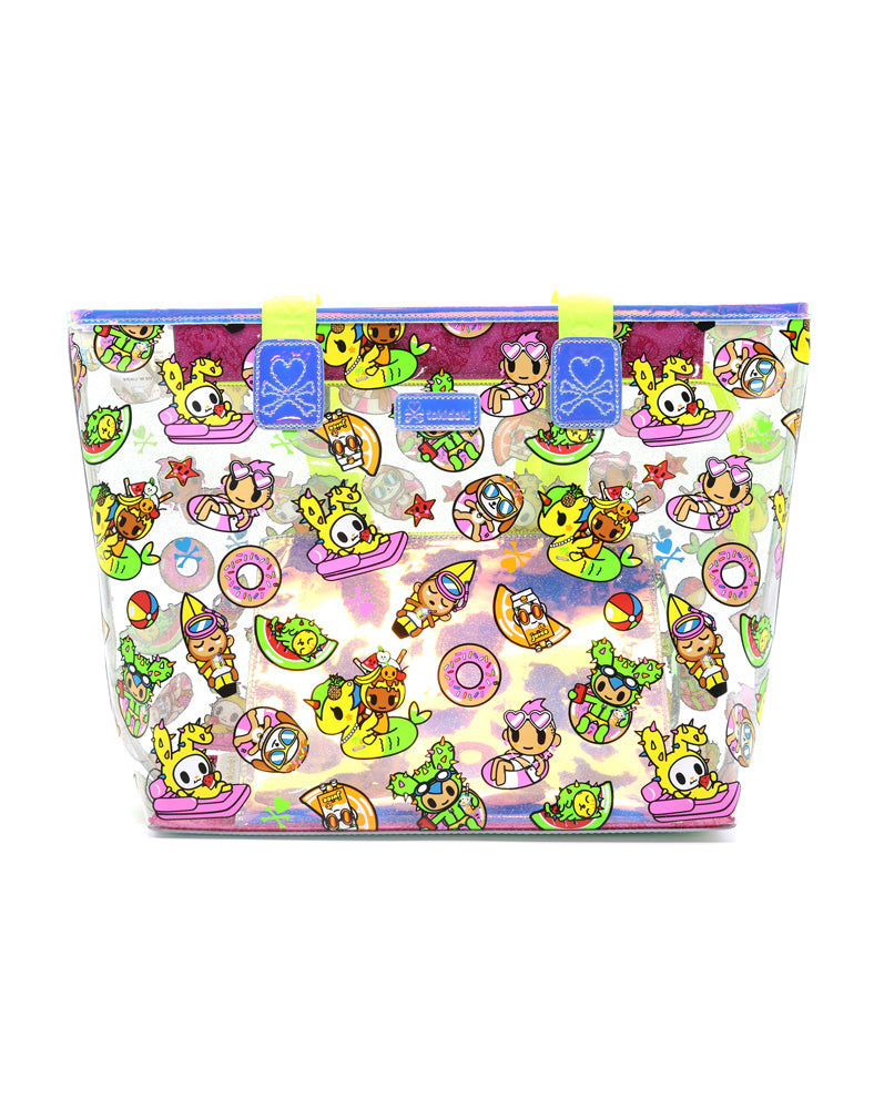 Pool Party Clear Beach Tote Front