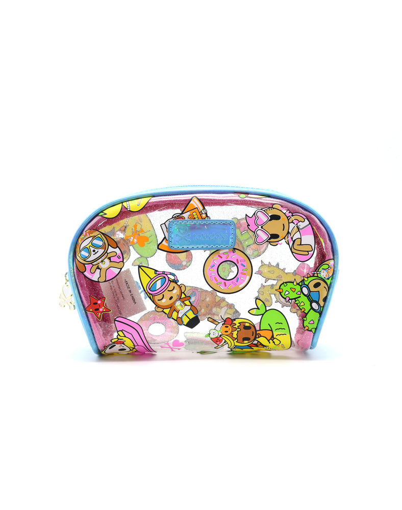 Pool Party Clear Cosmetic Case Front