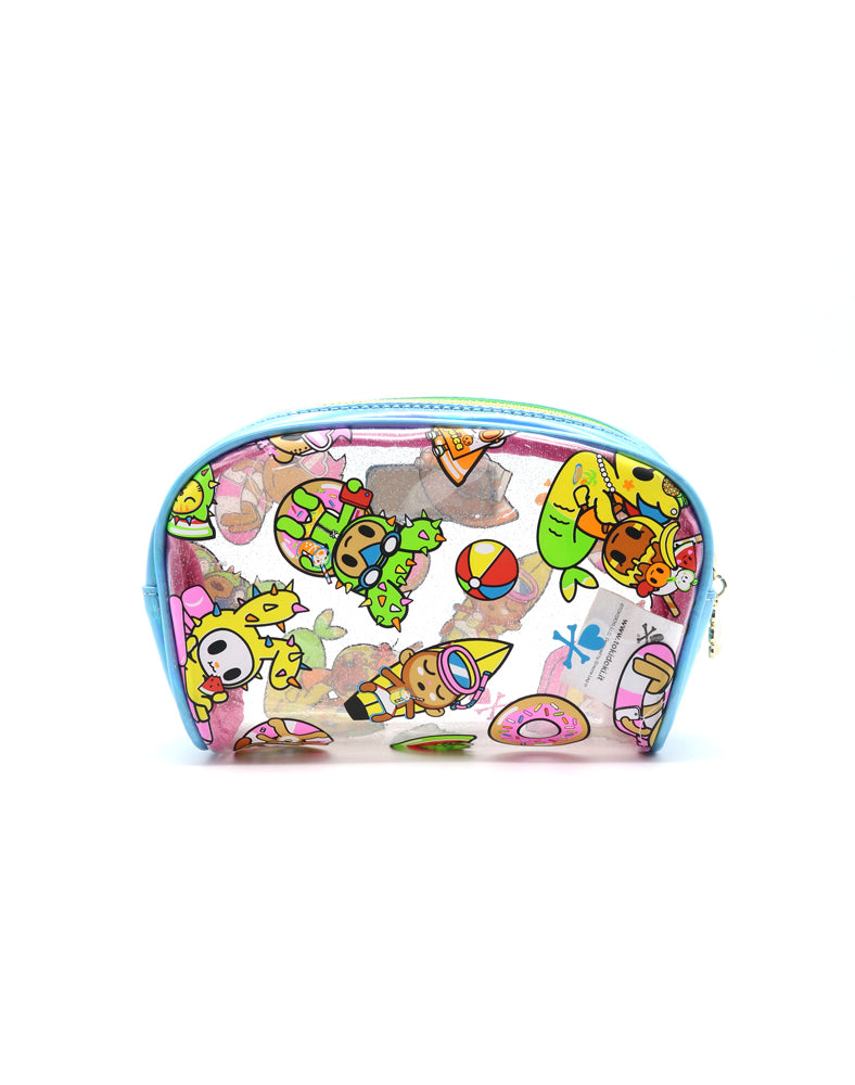 Pool Party Clear Cosmetic Case Back