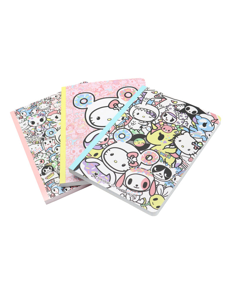 tokidoki x Hello Kitty Pastel Notebook Set all front covers together
