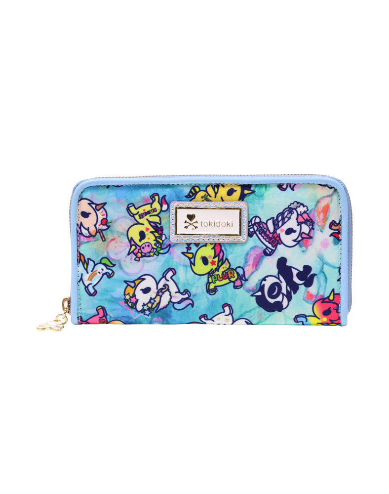 Watercolor Paradise Long Wallet front