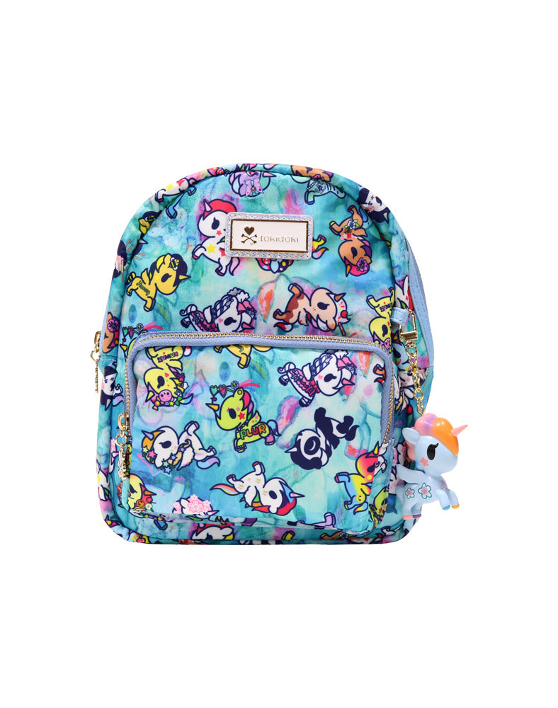Watercolor Paradise Mini Backpack front