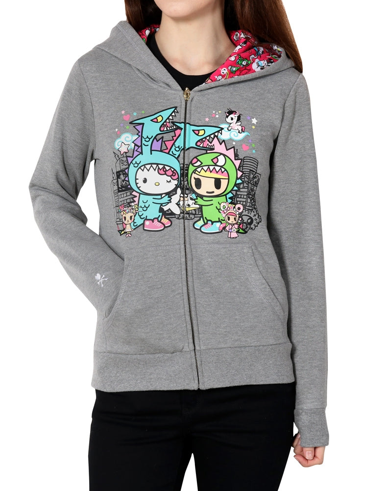 tokidoki x Hello Kitty Monster Buds Hoodie front