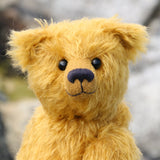 Fortescue is a very sweet, traditional teddy bear in German mohair by Barbara Ann Bears
