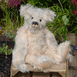 The Augustus Teddy Bear pattern makes a large, classical, traditional mohair Barbara-Ann Bear about 22 inches (55cm) tall.  A teddy bear sewing pattern to make a large, elegant, traditional mohair artist teddy bear with a centre seam in his head gusset, a long snout, a hump and long arms and legs