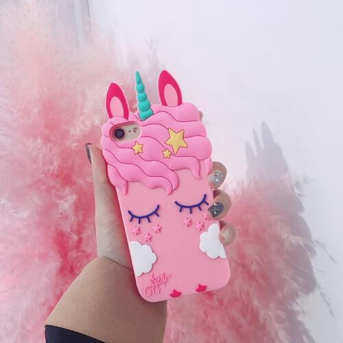 passion de licorne Pink / iPhone 6/6s Coque 3D iPhone licorne et nuage (à partir du 6)
