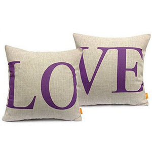 Passion For Romance | LOVE Fashion Cotton Linter Sofa Seat Pillow Cases Cushion Covers