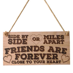 Passion For Giving: FRIENDS ARE FOREVER Rectangle Hanging Wall Sign Decoration Hang On Ornaments