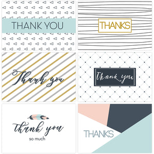 Passion For Giving: Tinksky 30PCS Thank You Cards Set Greeting Cards Notes With Kraft Envelopes And Stickers All-Occasion Thank You Notecard Set