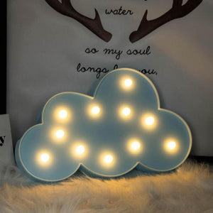 Passion for Decor | Cute 3D LED Night Light Star Moon Cloud Light Birthday Gift for Kids Bedroom Indoor Lighting Decor Lamp