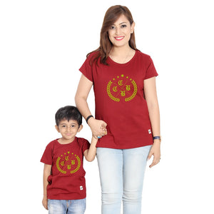 Maroon Mom & Son Tshirt
