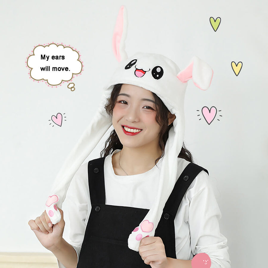 Cute Moving Flappy Ears Plush Cap