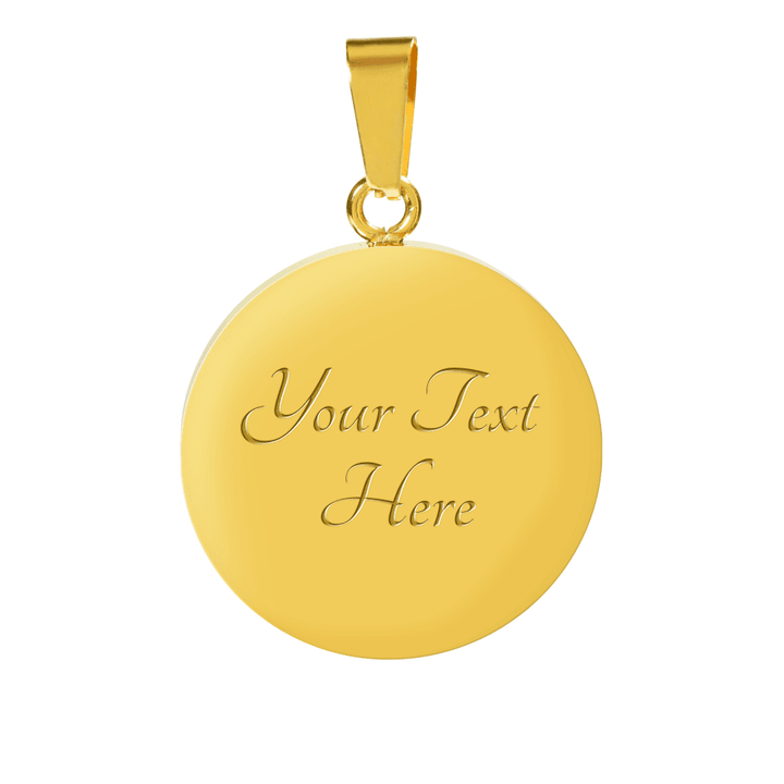 18k Gold And Silver Finish To My Child Never Underestimate Yourself You Are Beautifully Created By God, I Love You Circle - Luxury Adjustable Necklace (w/ Bangle variant)