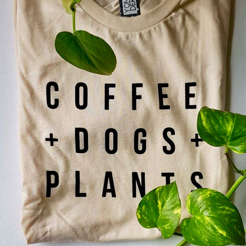 Coffee Dogs Plants T-shirt