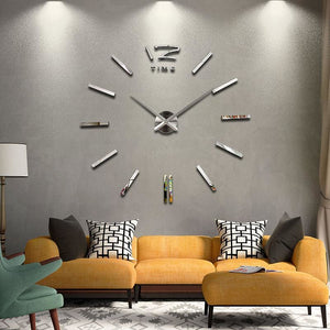 2018 new hot sale wall clock watch clocks Modern Antique Style home decoration 3d diy acrylic mirror