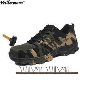 2018 New Mens Plus Size Outdoor Steel Toe Cap Military Work & Safety Boots Shoes Men Camouflage