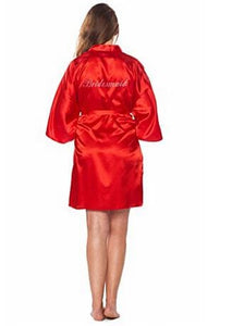 Fashion Silk Bridesmaid Bride Robe Sexy Women Short Satin Wedding Kimono Robes Sleepwear Nightgown As the photo show 1 / S