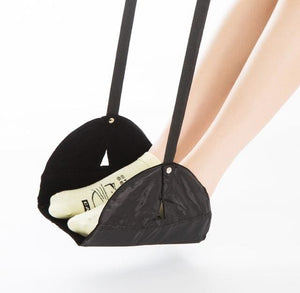 Qehiie Brand Travel Pad To Avoid Long Foot Can Also Rest Travel Essential Essential Airplane Pad Black Conjoined