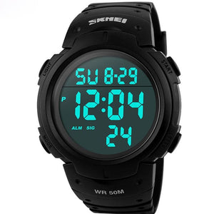 Skmei Luxury Brand Mens Sports Watches Dive 50M Digital Led Military Watch Men Fashion Casual