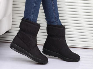 snow boots 2018 Winter warm waterproof women boots mother shoes casual cotton winter autumn boots CF1308W black / 6