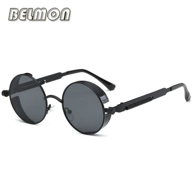 Steampunk Goggles Sunglasses Men Women Luxury Brand Round Sun Glasses For Ladies Retro Circle Rs291-C01