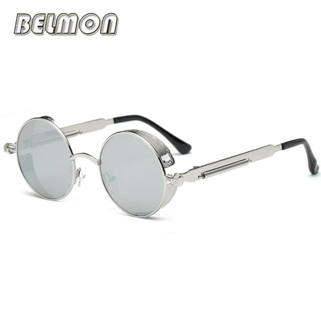 Steampunk Goggles Sunglasses Men Women Luxury Brand Round Sun Glasses For Ladies Retro Circle Rs291-C11