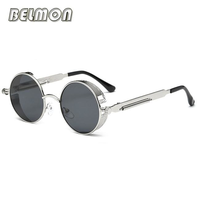 Steampunk Goggles Sunglasses Men Women Luxury Brand Round Sun Glasses For Ladies Retro Circle Rs291-C09