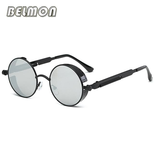 Steampunk Goggles Sunglasses Men Women Luxury Brand Round Sun Glasses For Ladies Retro Circle Rs291-C02